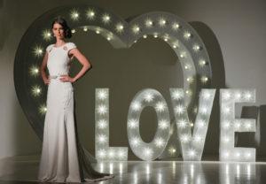 wedding letter lights